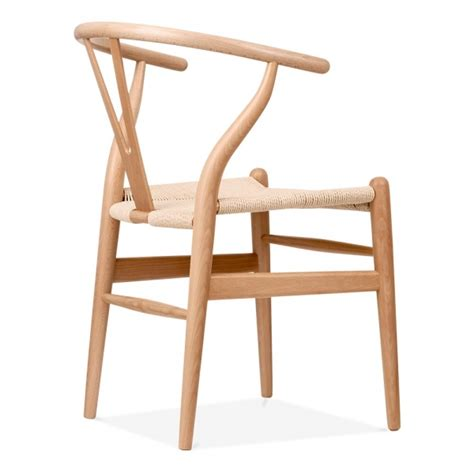 chaises de style chaise de style wishbone en bois naturel chaise design