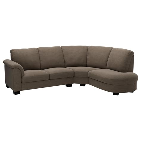 canape ikea tidafors corner sofa with arm left hensta light brown ikea