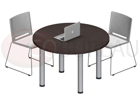 table ronde pro m 233 tal 100 cm pieds m 233 tal rond