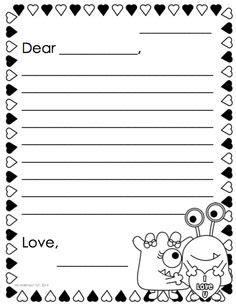 images  blank friendly letter worksheet