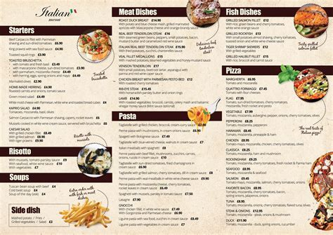 italian cuisine menu list rm restaurant gravesend italian and lithuanian restaurant