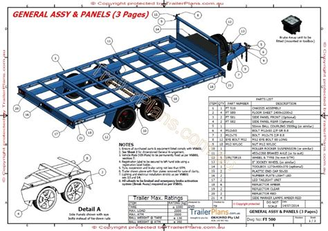 Trailer Panel Mount Led Light Template Dxf by Flat Top Wide Bed Trailer Plan
