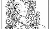 Complex Coloring Pages Adults Print sketch template