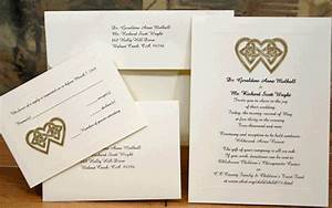 irish wedding invitations square cream green ribbon fold With gold wedding invitations ireland