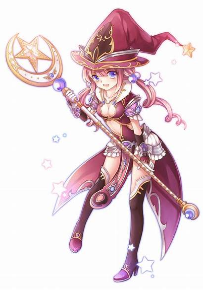 Wizard Aura Kingdom Wikia Anime Female Staff