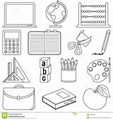 Coloring Supplies Colouring Worksheets Icons Books Classroom Objects Pages Kindergarten Clip Pencil Education sketch template