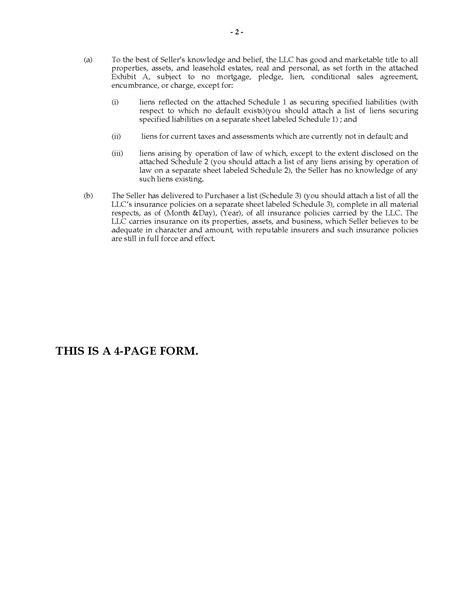 usa sale  llc interest agreement legal forms