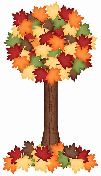 Fall Tree Clipart Clip Autumn Leaves Trees