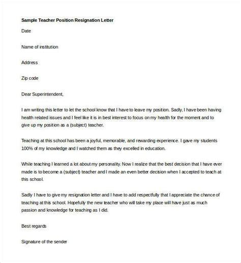 teacher resignation letter bravebtr