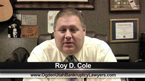 Roy Cole Ogden Bankruptcy Lawyer Youtube