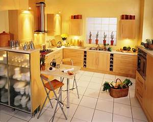 Sunflower, Kitchen, Theme, For, Fresher, But, Simple, Kitchen