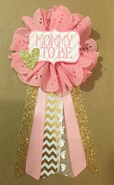 Baby Shower Mums For by Baby Shower Pink And Gold Baby Shower Pin To Be Pin