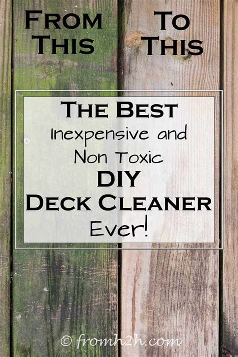 inexpensive  toxic diy deck cleaner