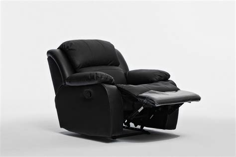 Kacey Brand New Black Leather Single Seater Chair Recliner