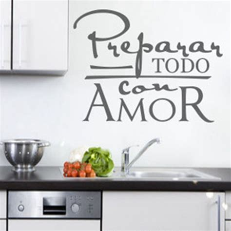 stickers cuisine phrase free shipping wall quote stickers for espanol