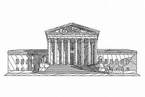 Drawn building supreme court building - Pencil and in ...
