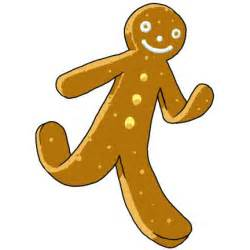 gingerbread man running coloring page image