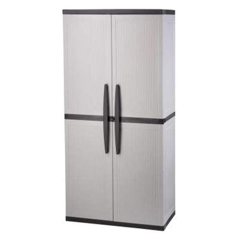 tall plastic storage cabinets hdx 35 in w 4 shelf plastic multi purpose tall cabinet in