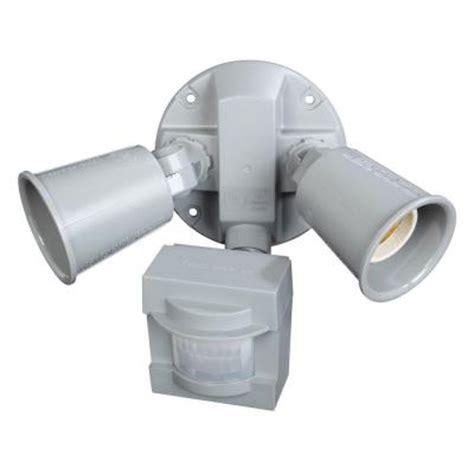 motion sensor light home depot defiant 110 degree grey motion outdoor security light dfi