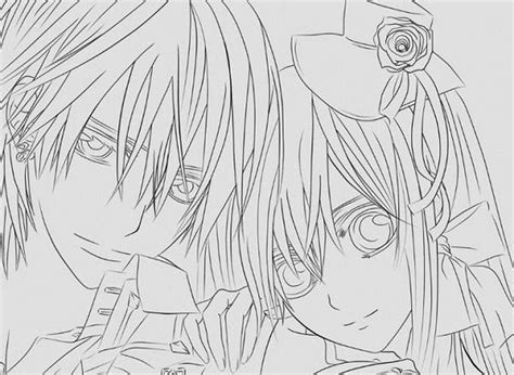 vampire knight coloring pages to print coloring pages