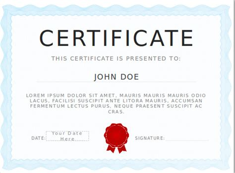 powerpoint certificate templates  pptx