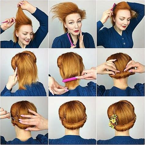 1940s Hairstyle Tutorial by Pin By Melanie Elron On Vintage Hair In 2019 Hair Styles