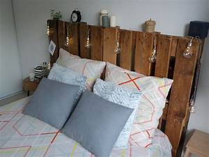 Photo Tete De Lit : faire une t te de lit avec des palettes con fession ~ Dallasstarsshop.com Idées de Décoration