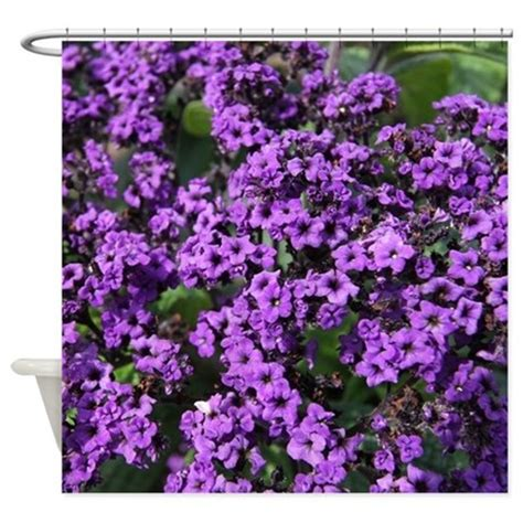 purple flowers shower curtain by admin cp112780455