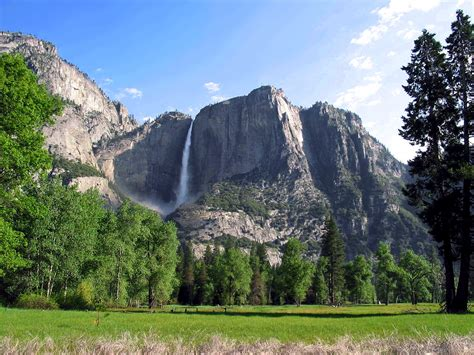 Yosemite Falls California Usa Most Beautiful Places
