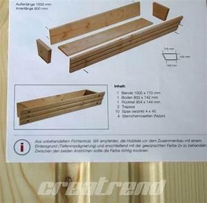 Blumenkasten Holz Balkon : blumenkasten holz pflanzkasten natur unbehandelt 100 cm ebay balcony ~ Orissabook.com Haus und Dekorationen