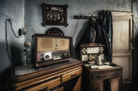 foto natur retro radioapparat