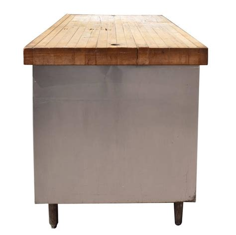 Industrial Table With Butcher Block Top For Sale At 1stdibs