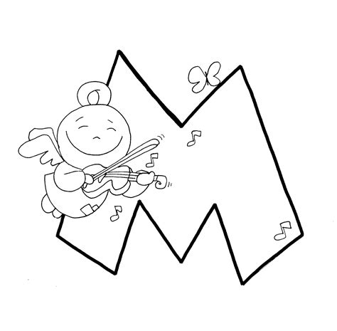 compartiendo por dibujos abecedario angeles