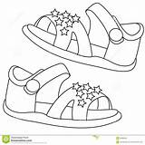 Sandals Coloring Useful sketch template