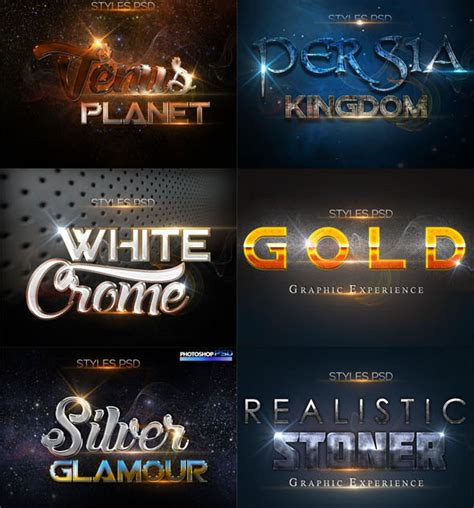 photoshop styles  magnificent text effects