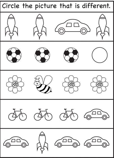 same different worksheets for 2016 kiddo shelter