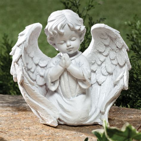 outdoor angel statues cherub garden statue outdoor indoor praying wings decor white yard patio ebay