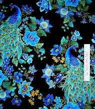 Timeless Treasures Fabrics Peacock Blue