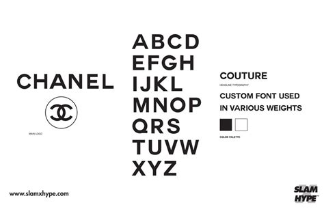 Chanel Futura every streetwear font fashion house font in one