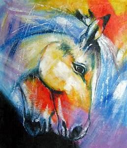 Tableau Peinture Sur Toile : tableau pop art cheval portrait peinture chevaux sur toile ~ Teatrodelosmanantiales.com Idées de Décoration