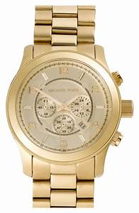 Michael Michael Kors Michael Kors Large Gold Runway Watch ...