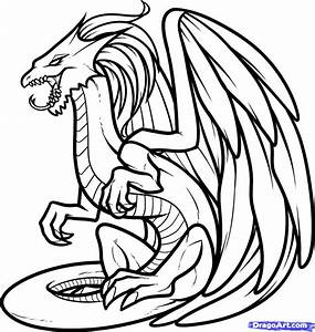 How to Draw a White Dragon, White Dragon, Step by Step ...