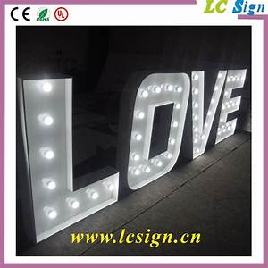 love decor led light outdoor large led letters in With outdoor led letters