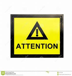 3D Attention Sign Royalty Free Stock Photos - Image: 14374798
