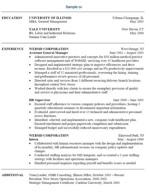 free sle resume free resume exle free