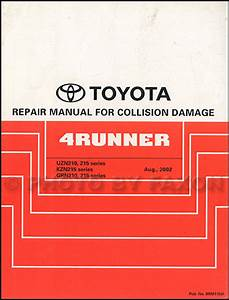 2009 Toyota 4runner Repair Shop Manual Original 4 Volume Set