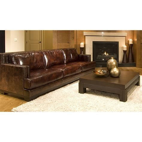 leather saddle emerson sofa grain walmart sofas hayneedle loveseats