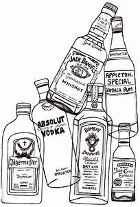 line drawing is the way to go with glass bottles | Art ...