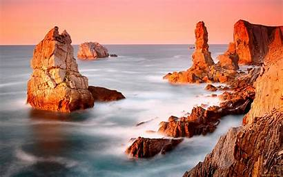 Seashore Rocks Monumental Wide Wallpapers13