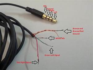 Dissection Of A Ue Vi Cable And Mic Plug Pin Out